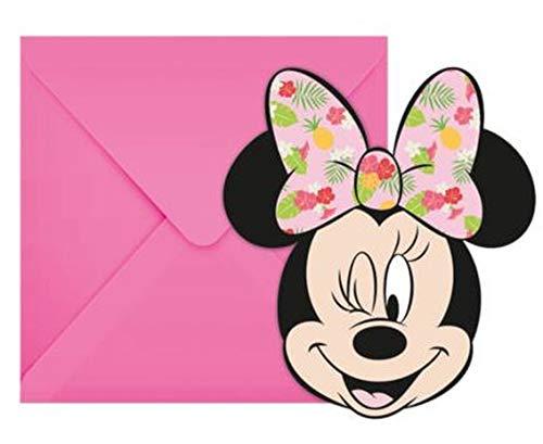 Prezer Minnie Maus Tropical 6 Einladungskarten