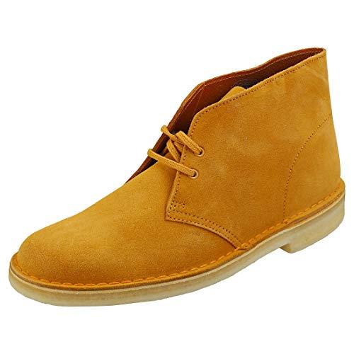 """Clarks, Stivaletti uomo """"Desert Boot"""" 00111, Giallo (Tumeric Suede 26139166), 46 EU"""