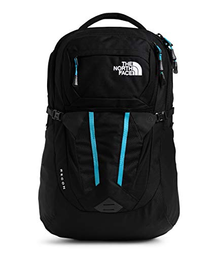 The North Face Women's Recon Backpack, TNF Black Heather/Ethereal Blue, One Size
