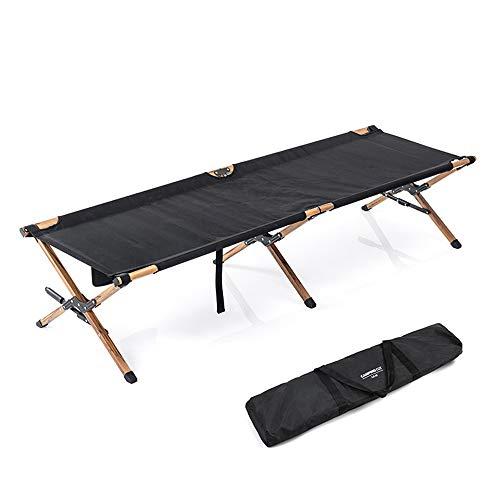 MLQ Tragbares klappbares Campingbett, kompaktes Schlafsofa für Erwachsene mit Aufbewahrungstasche, X-Bracing-Prinzip, Starke Tragfähigkeit für die Reise
