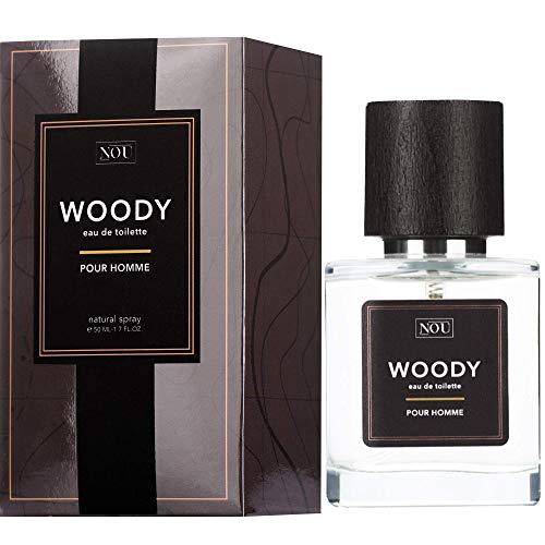 Woody Eau de Toilette - Natürliches Eau de Toilette für Herren - Holziges Zitrus-Eau de Toilette mit Ätherischen Ölen - Männerduft - NOU Woody Holziges EdT für Männer - 50 ml Eau de Toilette