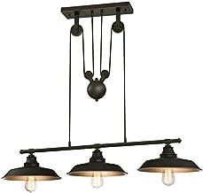 Westinghouse Three-Light Indoor Island Pulley Pendant Poleas, Bronce Aceitado, Lámpara de techo colgante con 3 luces