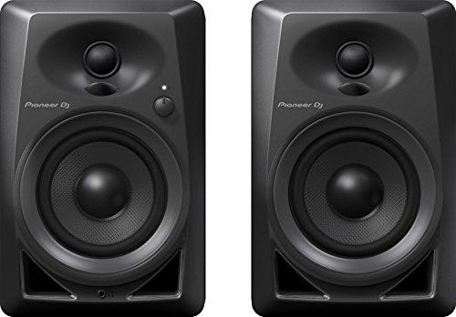 """Pioneer DM-40 - Coppia casse studio diffusori monitor attivi homestudio desktop a 2 vie 4"""" / 0,75"""" 21w, Nero"""