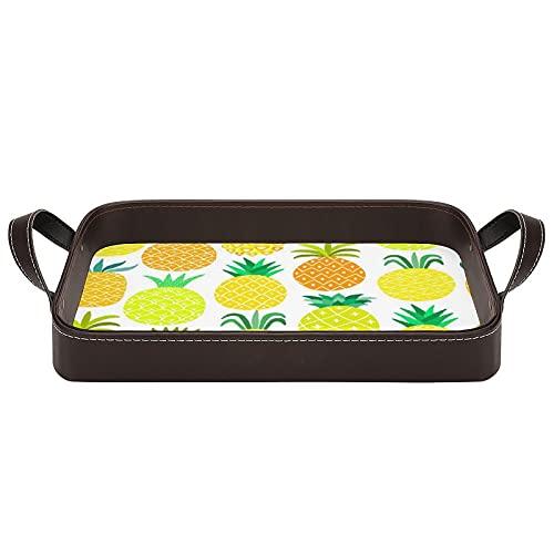 bandeja de cuero,bandeja de tocador decorativa,Las frutas de Hawai fresco y dulce en las formas ingenioso jardín,Bandeja de utilidad Oficina en casa Viaje Café Ba