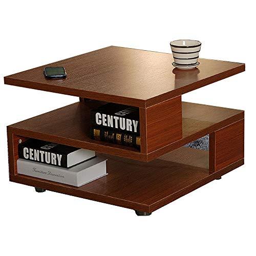 Tavolino/comodino/tavolino da caffè/divano per soggiorno, balcone e ufficio, ripiano quadrato a 2 ripiani, 40 x 40 x 40 cm (colore: B)