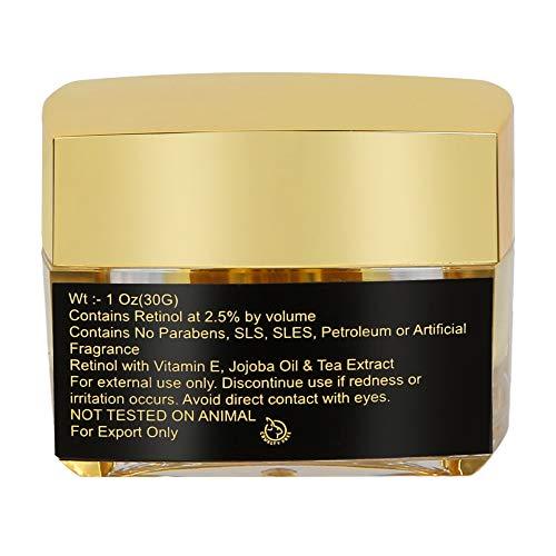 BillionDeals Retinol Gold Night Gel 2.5% I Jojoba Oil, Tea Extract, Vitamin E Night Cream