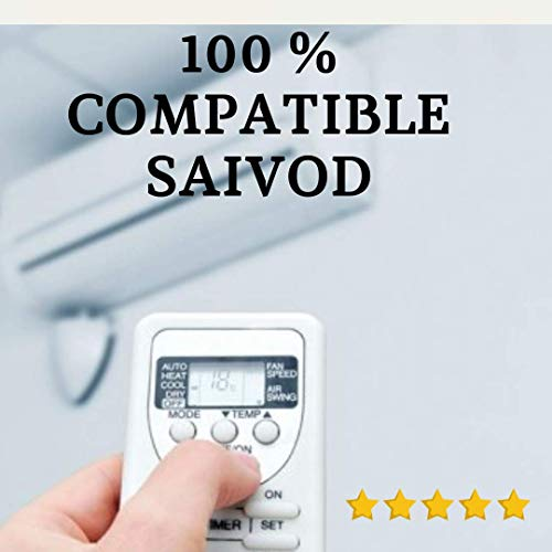 SAIVOD - Mando Aire Acondicionado SAIVOD - Mando a Distancia Compatible con Aire Acondicionado SAIVOD. Entrega en 24-48 Horas. SAIVOD MANDO COMPATIBLE.