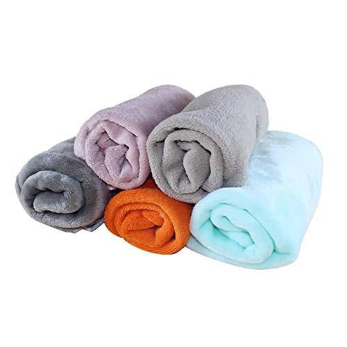 Unbekannt PER Haustier-Decke Soft & Warm Mat Badetuch Multifunktions Coral Fleece Mat für Hund Katze Kleine Tiere Farbe nach dem Zufall
