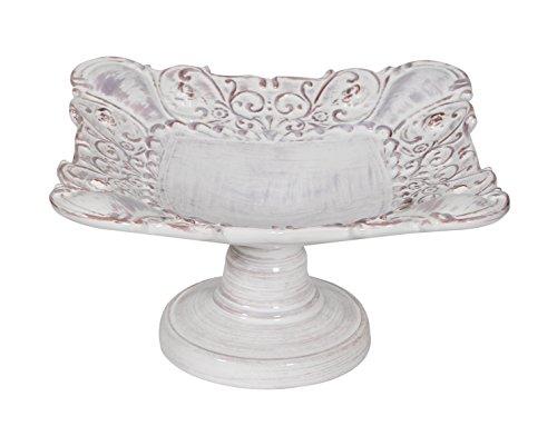 Biscottini Etagere Obstschale Tischzentrum aus Keramik von Bassano L25XPR25XH15 cm Made in Italy