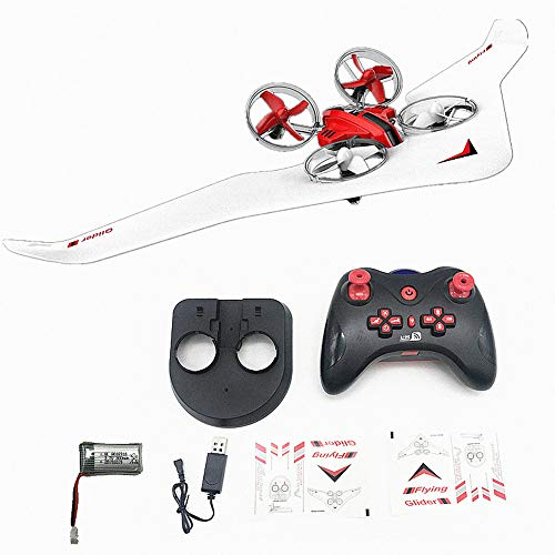 Yeefant 3In1 Sky Mode Remote Control and Drone Hovercraft Fixed Wing Glid w/2 Battery Mini Drone for Kids Adults Remote Control Boats RC Car Sea-Land-Air Mode Switchable Hovercraft Toy RC Quadcopter