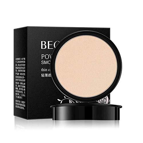 BEOTUA Light Concealer Beauty Powder Cake Color Natural Makeup Control Nouveau , Anti-cernes léger, fond de teint poudre de beauté, couleur naturelle (1pc, Blanc ivoire)