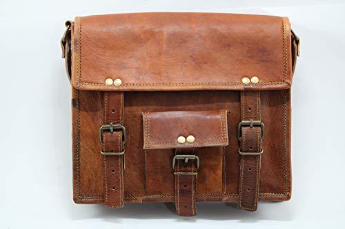 The Rustic Journey 11 inch Vintage Crossbody Leather iPad Tablet Messenger Bag for Men & Women