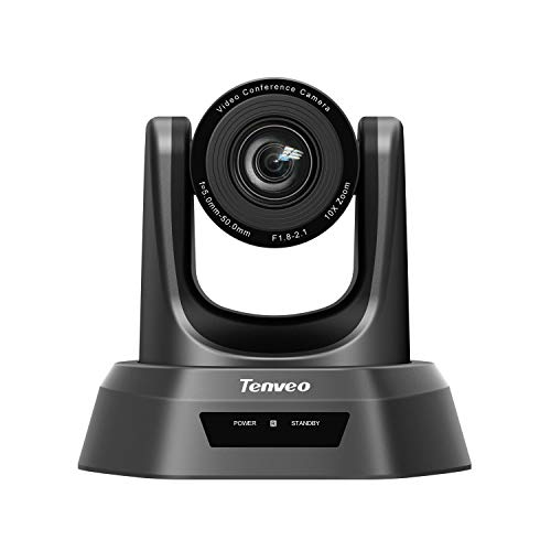 Tenveo NV10A | 10x Optischer Zoom USB-HDMI-SDI Konferenzkamera, 1080p Full-HD Weitwinkel PTZ Webcam, für Live Streaming, Videokonferenz
