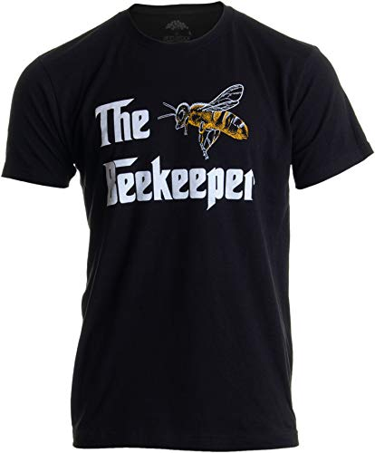 The Beekeeper | Bee Keeper Keeping Apiary Cool Funny Joke Men Women T-Shirt-(Adult,XL) Black