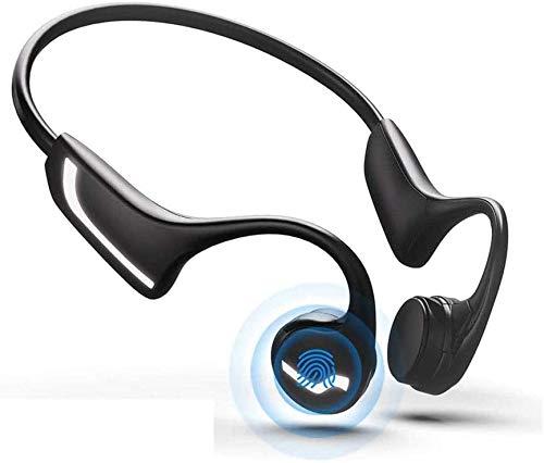 NCRD Auriculares de conducción ósea-Bluetooth 5.0 con micrófono, luz abierta liviana a prueba de sudor, respuesta a prueba de sudor, llamada telefónica for correr caminando caminando en bicicleta, apt