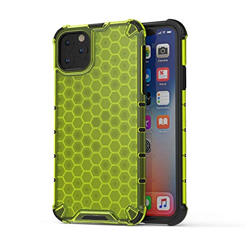 GUOQING Funda protectora a prueba de golpes para iPhone, TPU + PC Back Case Cover (color: verde, tamaño: para iPhone 11 Pro Max)