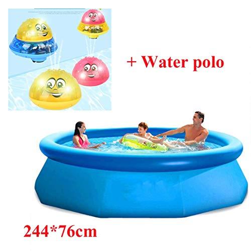 Schwimmendes Schwimmbecken, Sommer Übergroßes rundes aufblasbares Kinderbecken Verdicken Sie das aufblasbare Spielzeug-Paddelbecken für Erwachsene