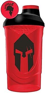 Gods Rage Shaker Wave Shaker Proteinshaker Eiweiß Protein Shaker Rot 600ml Fassungsvermögen Spartan Rage