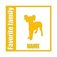 ForzaGroup 全犬種 全猫種対応 チャイニーズクレステッドドッグ2 (134-49) 犬 イヌ 車 ステッカー 名前入れ