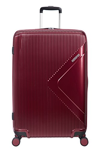 American Tourister Modern Dream Spinner Espandibile Valigia, 77.5 cm, 114 L, Rosso (Wine Red)