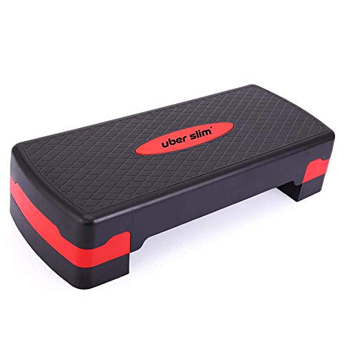 Fitness Aerobic Step with Risers Workout Equipment for Home Workouts Exercise Equipment Home Gym Fitness Accessories Workout Bench Gym Equipment for Home, Step Up Exercise Platform Adjustable