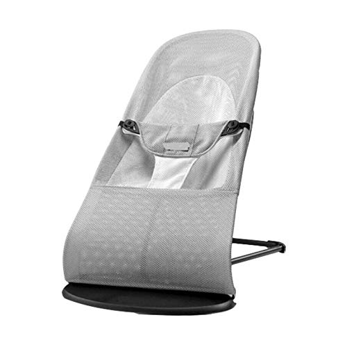 Trintion Newborn Baby Balance Bouncer Chair Soft Infant Chair Rocking Seat Foldable Home Baby Recliner(Gray)