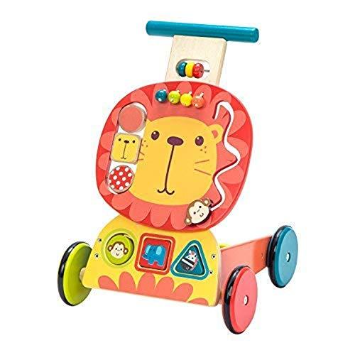 YIAIYAS Andador for bebés, Uso 3 en 1 como Juguete for Empujar, Andador Blue Elephant Mobility for 1-3 León