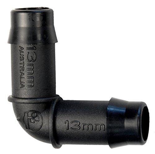 13 mm Coude connecteur barbelé Tube pour tuyau d'irrigation/Hydroponie/antelco, Lot de 25