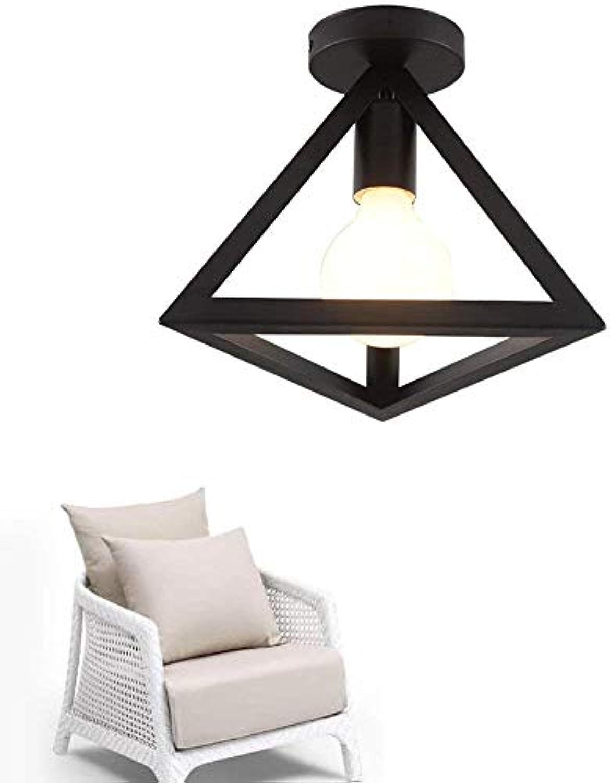 Mini Deckenleuchte Modern Triangle Design Deckenleuchte 1 Flamme E27 für Küche Flur Shop Balkon Kleiderschrank Lagerung Eisenrahmen