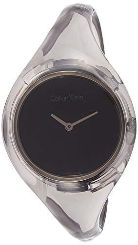 Calvin Klein Damen Analog Quarz Uhr mit Harz Armband K4W2SXP1