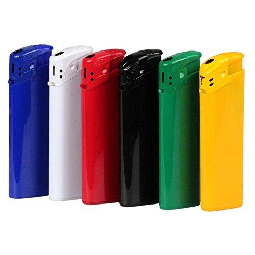 100 x schwarzes Feuerzeug Grenada Elektronik 1-seitig mit Druck Werbung Logo Text Bedrucken 1-farbig
