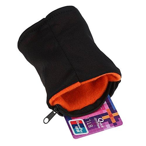 Alomejor Handgelenktasche mit Fleece-Reißverschluss, für Laufen, Reisen, Fitnessstudio, Radfahren, Sport, Schlüsselaufbewahrung, sicher, leicht, Orange