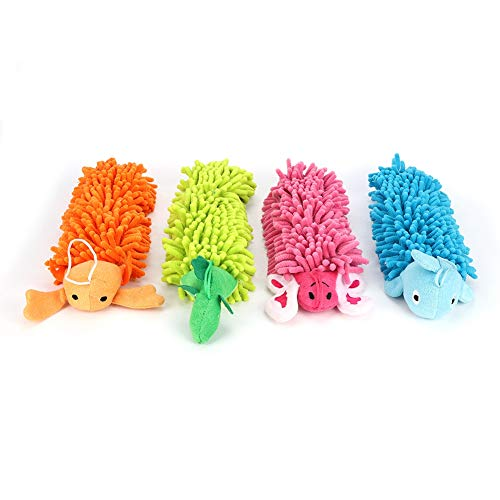 SanZHONGsd Juego de toallas de mano absorbentes de chenilla de dibujos animados para el hogar cocina baño 4 unids/set