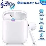 Cuffie Bluetooth 5.0, Tocco Auricolari Wireless 35h Playtime Con Scatola di Ricarica, 3D Stereo con HD Mic Auricolari Senza Fili Cuffie in-Ear per bassi profondi per Apple AirPods Android/iPhone