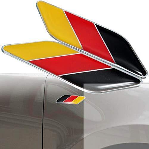 Dsycar 2Pcs/Pair 3D Germany Flag Car Emblem Badge Fit Germany Car Body German Flag Sticker Car Bumper Decoration