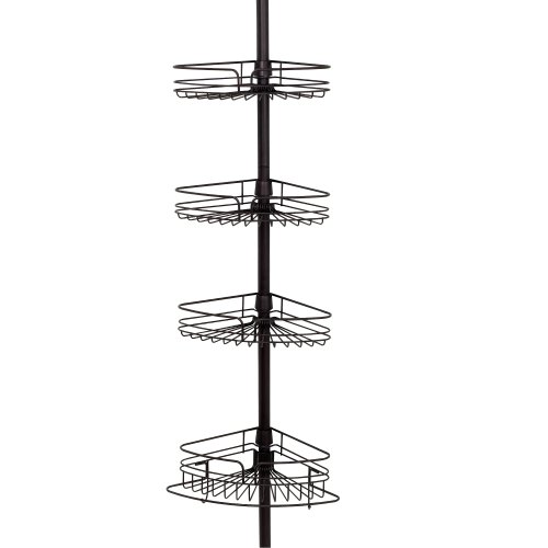 Zenna Home 2132HB Tension Pole Caddy, Oil Rubbed Bronze