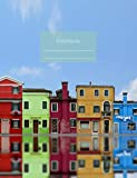 "Notebook: Composition Notebook. College ruled with soft matte cover. 120 Pages. Perfect for school notes, Ideal as a journal or a diary. 9.69"" x ... houses, Burano (Venice, Italy) cover)."