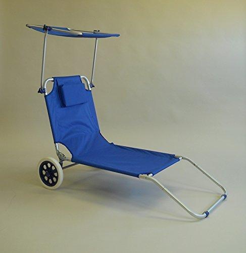 LI.G SPIAGGINA Trolley in Alluminio con Tetto