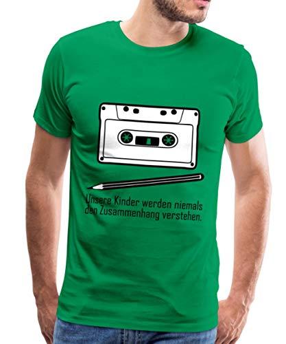 Zusammenhang Tape Bleistift Männer Premium T-Shirt, L, Kelly Green