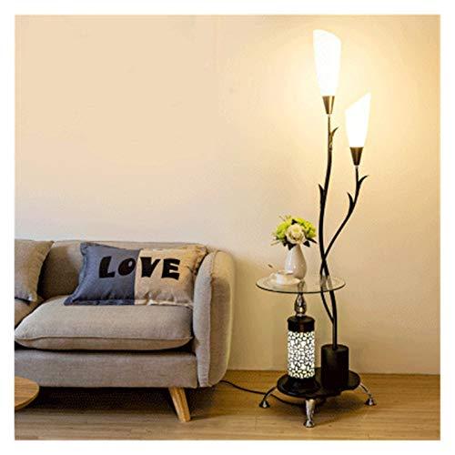 Lámpara de piso Lámpara de pie de escritorio nórdico Moderno Dormitorio Suelo Luz de estar Lámpara de pie Estudio LED Soporte Luz Decoración Industrial Luminaria decoración ( Lampshade Color : B )