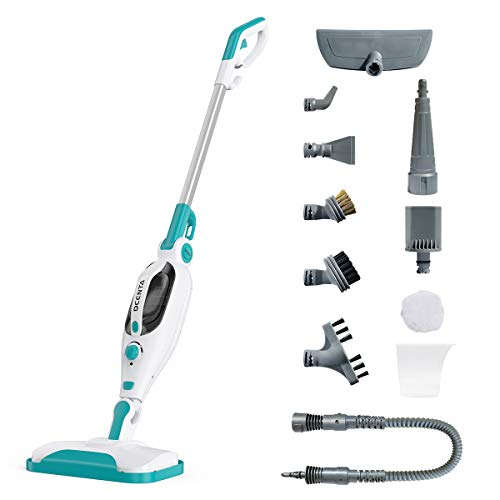 Dcenta 12-In-1 Multifunction Steam Mop, 1500W Power Handheld Upright...