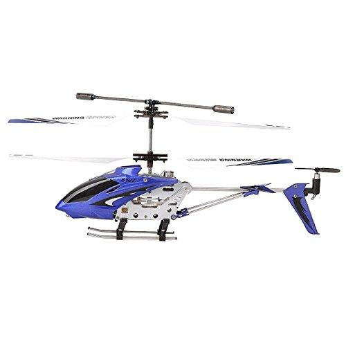 Syma S107G Helicóptero RC de metal con 3 canales y mando a distancia Azul