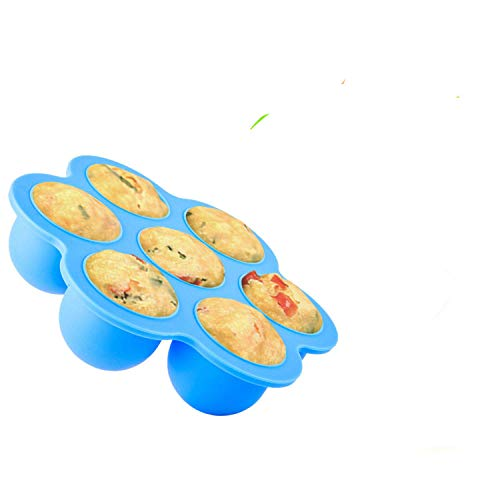 Silicone Seven-Hole Steamed Egg Mold Cake Mold Children's Food Supplement Box Pressure Cooker Accessories Storage Box