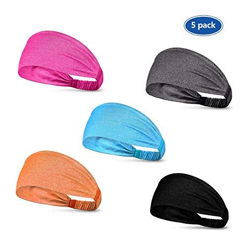 ETCBUYS Sports Fitness Headband - Athletic Women's Headband and Work-Out Head Wrap Sweatband for Yoga, Fashion, Basketball, Running, Girls