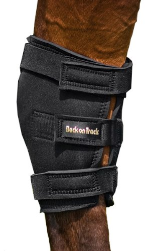 Back on Track 2-Piece Therapeutic Horse Hock Brace with Hole, Medium