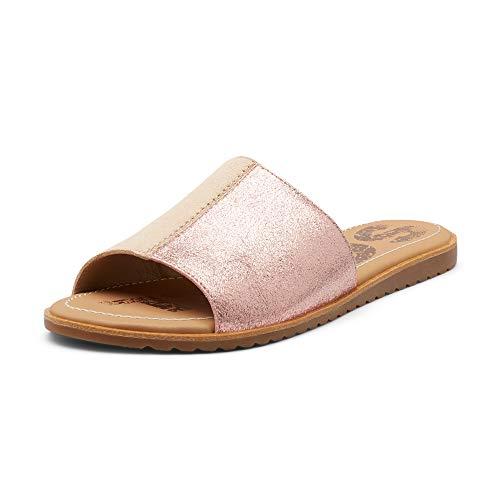 Sorel - Women's Ella Block Slide, Suede Sandal with Strap, Natural Tan, 8 M US