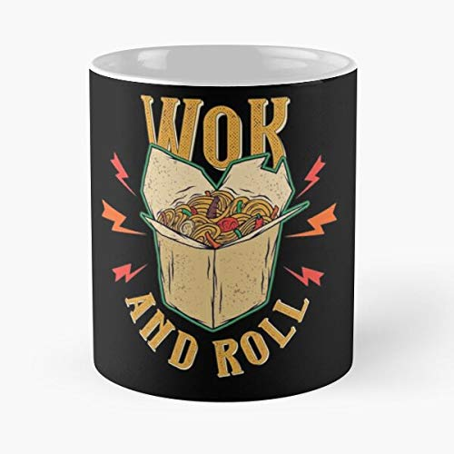 worldbrand Asian Typography Oriental Wok Spicy Funny Food Roll Best 11 oz Kaffeebecher - Nespresso Tassen Kaffee Motive