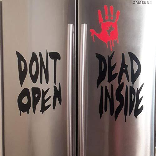 CECILIAPATER Don't Open Dead Inside, Halloween-Aufkleber, Walking Dead, Zombie-Aufkleber, Halloween, blutige Hand