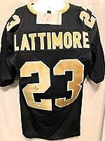 Marshon Lattimore New Orleans Saints Signed Autograph Black Custom Jersey JSA Witnessed Certified