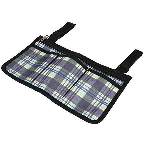 Art mirror Rollstuhl-multipet-Side-Tasche Hängende Organizer-Beutel Für Snacks Brieftasche Snacks Lagerung, Blaues Plaid
